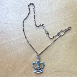 Catherine Popesco France necklace crown gems gold